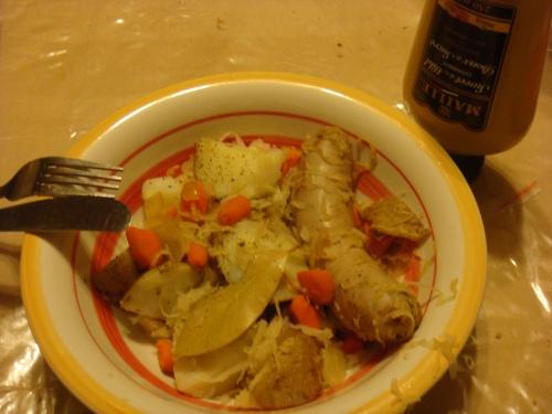 Saussages and sauerkraut